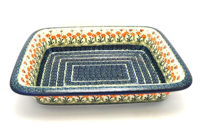 Ceramika Artystyczna Polish Pottery Baker - Lasagna - Peach Spring Daisy 854-560a (Ceramika Artystyczna)