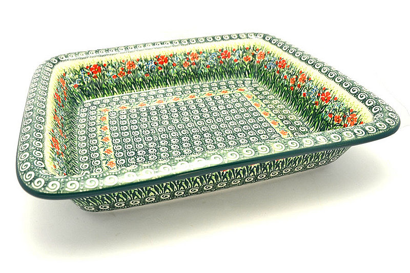 Ceramika Artystyczna Polish Pottery Baker - Lasagna - Unikat Signature U4336 854-U4336 (Ceramika Artystyczna)