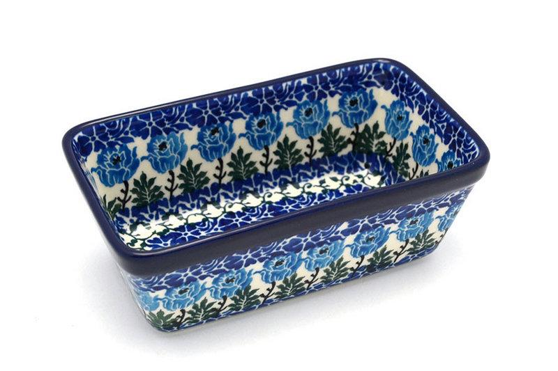 Ceramika Artystyczna Polish Pottery Baker - Mini Loaf Pan - Antique Rose 238-1390a (Ceramika Artystyczna)