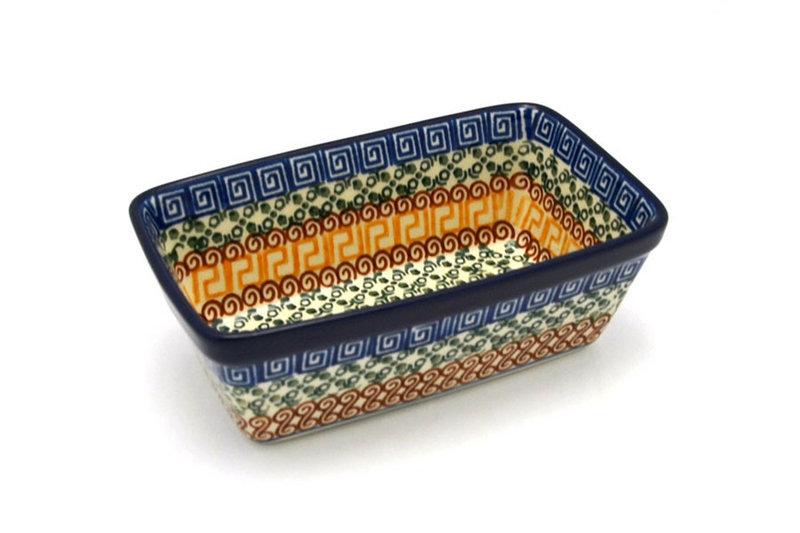 Ceramika Artystyczna Polish Pottery Baker - Mini Loaf Pan - Autumn 238-050a (Ceramika Artystyczna)