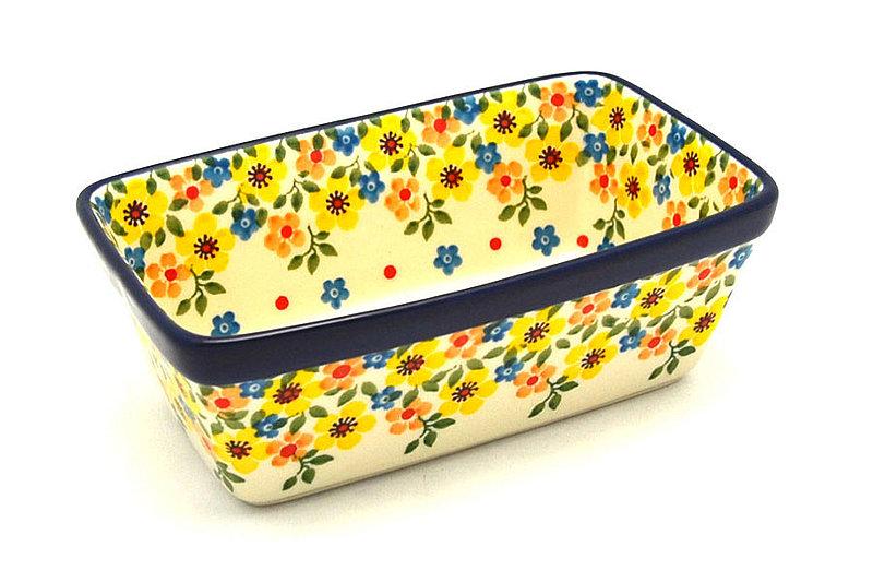 Ceramika Artystyczna Polish Pottery Baker - Mini Loaf Pan - Buttercup 238-2225a (Ceramika Artystyczna)