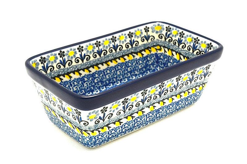 Ceramika Artystyczna Polish Pottery Baker - Mini Loaf Pan - Daisy Maize 238-2178a (Ceramika Artystyczna)