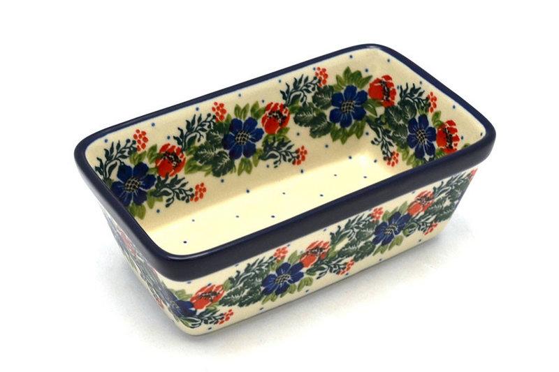 Ceramika Artystyczna Polish Pottery Baker - Mini Loaf Pan - Garden Party 238-1535a (Ceramika Artystyczna)