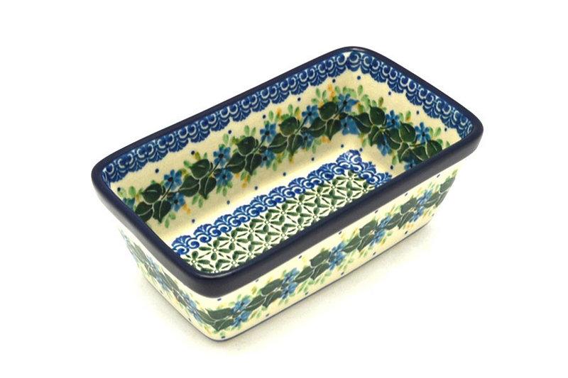 Ceramika Artystyczna Polish Pottery Baker - Mini Loaf Pan - Ivy Trail 238-1898a (Ceramika Artystyczna)