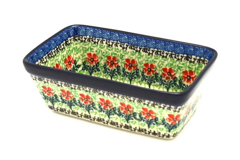 Ceramika Artystyczna Polish Pottery Baker - Mini Loaf Pan - Maraschino 238-1916a (Ceramika Artystyczna)