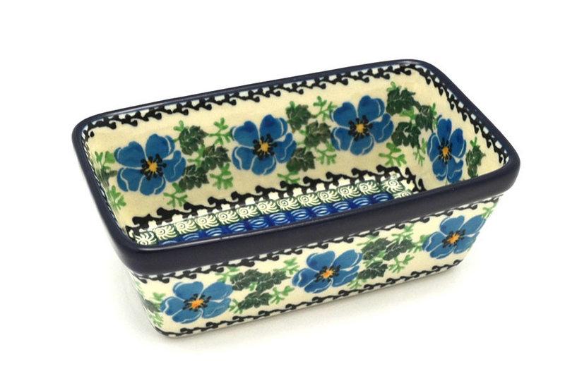 Ceramika Artystyczna Polish Pottery Baker - Mini Loaf Pan - Morning Glory 238-1915a (Ceramika Artystyczna)
