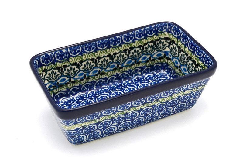 Ceramika Artystyczna Polish Pottery Baker - Mini Loaf Pan - Tranquility 238-1858a (Ceramika Artystyczna)