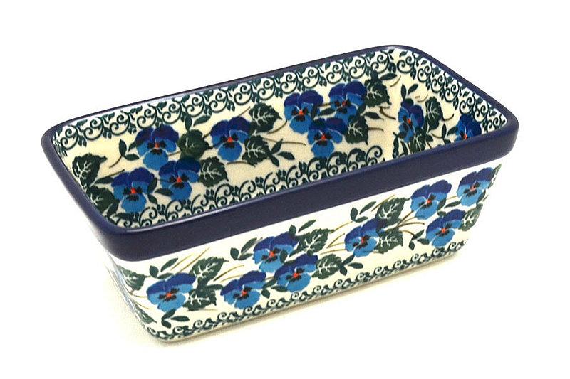 Ceramika Artystyczna Polish Pottery Baker - Mini Loaf Pan - Winter Viola 238-2273a (Ceramika Artystyczna)