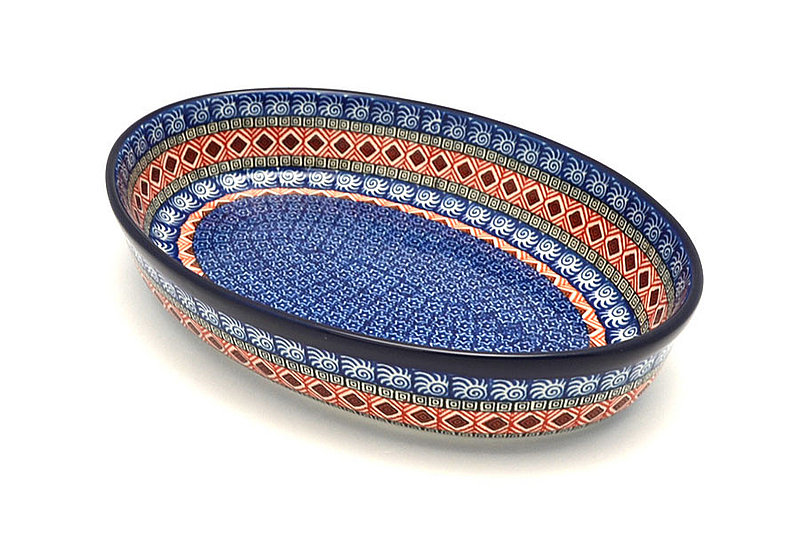 Ceramika Artystyczna Polish Pottery Baker - Oval - Large - Aztec Sun 297-1350a (Ceramika Artystyczna)