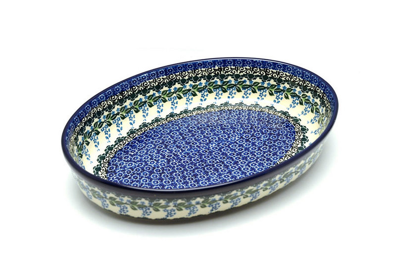 Ceramika Artystyczna Polish Pottery Baker - Oval - Large - Wisteria 297-1473a (Ceramika Artystyczna)