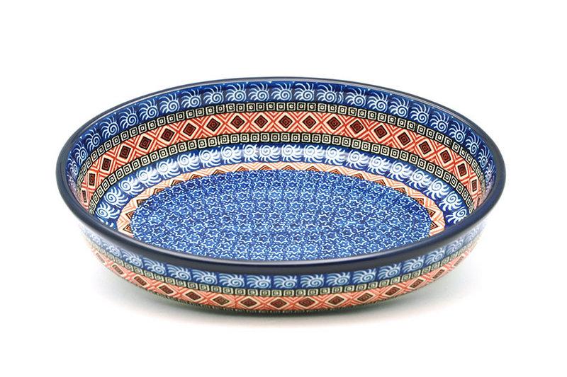 Ceramika Artystyczna Polish Pottery Baker - Oval - Medium - Aztec Sun 298-1350a (Ceramika Artystyczna)