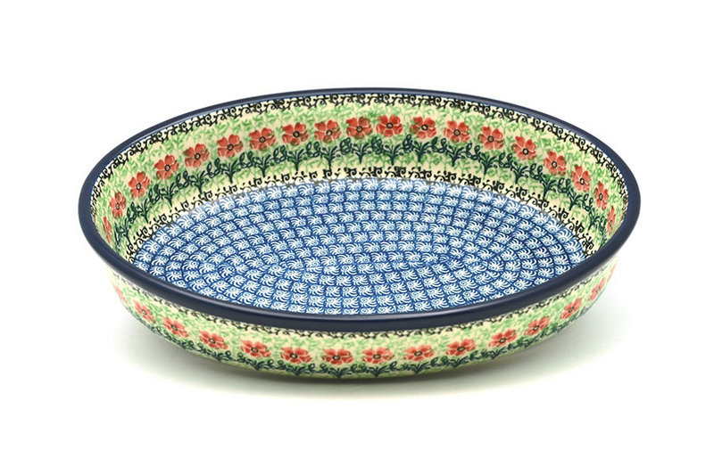 Ceramika Artystyczna Polish Pottery Baker - Oval - Medium - Maraschino 298-1916a (Ceramika Artystyczna)