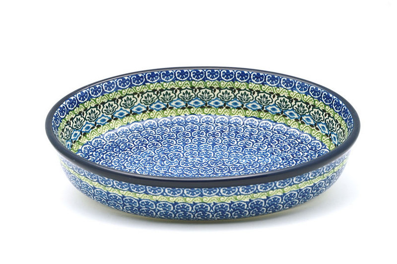 Ceramika Artystyczna Polish Pottery Baker - Oval - Medium - Tranquility 298-1858a (Ceramika Artystyczna)