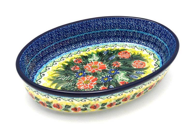Ceramika Artystyczna Polish Pottery Baker - Oval - Medium - Unikat Signature U4610 298-U4610 (Ceramika Artystyczna)
