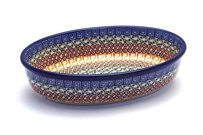 Ceramika Artystyczna Polish Pottery Baker - Oval - Small - Autumn 299-050a (Ceramika Artystyczna)