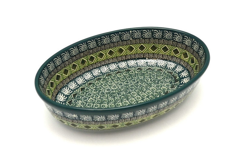 Ceramika Artystyczna Polish Pottery Baker - Oval - Small - Aztec Forest 299-1919q (Ceramika Artystyczna)