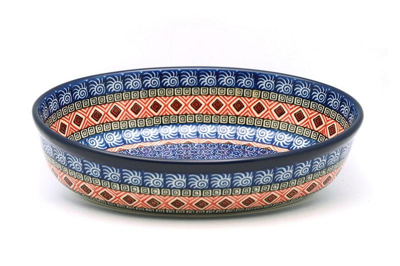 Ceramika Artystyczna Polish Pottery Baker - Oval - Small - Aztec Sun 299-1350a (Ceramika Artystyczna)