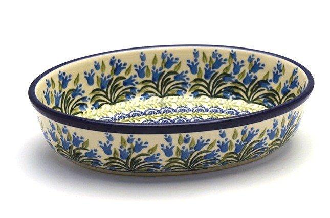 Polish Pottery Baker - Oval - Small - Blue Bells