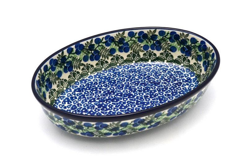 Ceramika Artystyczna Polish Pottery Baker - Oval - Small - Huckleberry 299-1413a (Ceramika Artystyczna)