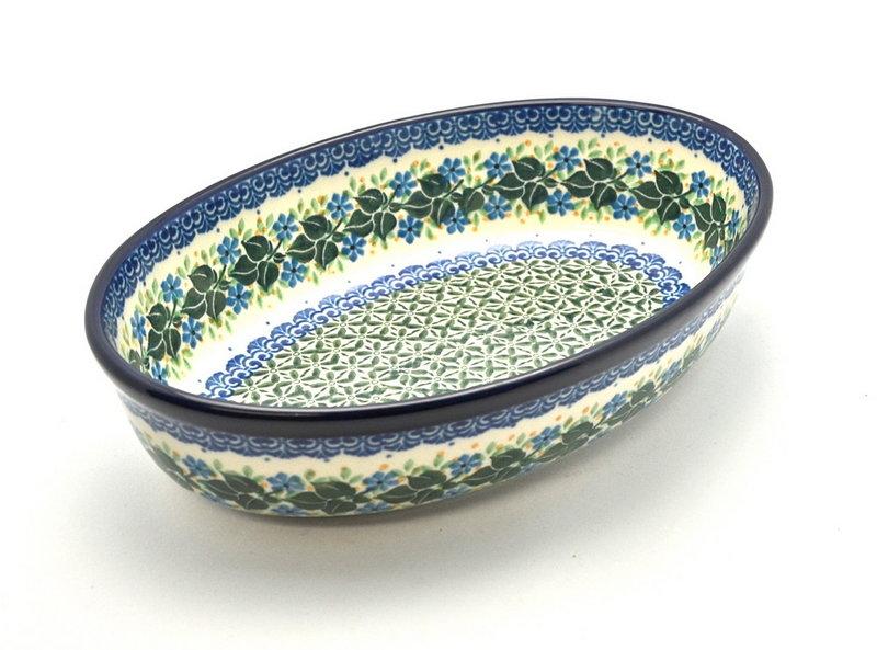 Ceramika Artystyczna Polish Pottery Baker - Oval - Small - Ivy Trail 299-1898a (Ceramika Artystyczna)