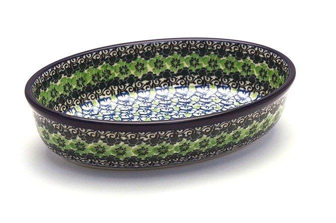 Polish Pottery Baker - Oval - Small - Kiwi