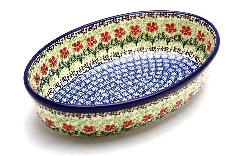 Ceramika Artystyczna Polish Pottery Baker - Oval - Small - Maraschino 299-1916a (Ceramika Artystyczna)