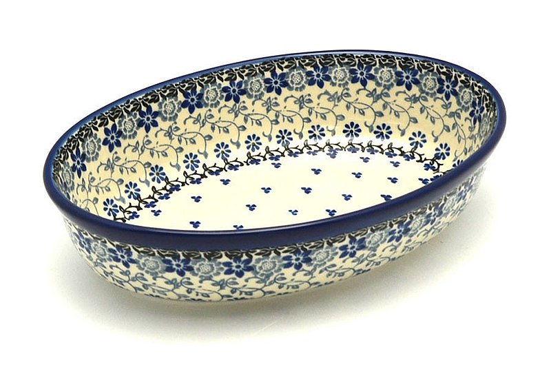 Ceramika Artystyczna Polish Pottery Baker - Oval - Small - Silver Lace 299-2158a (Ceramika Artystyczna)