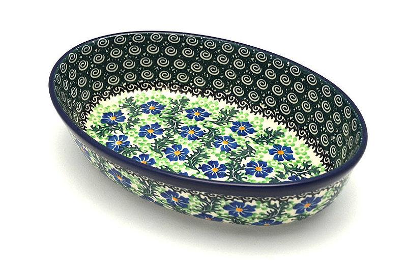 Ceramika Artystyczna Polish Pottery Baker - Oval - Small - Sweet Violet 299-1538a (Ceramika Artystyczna)