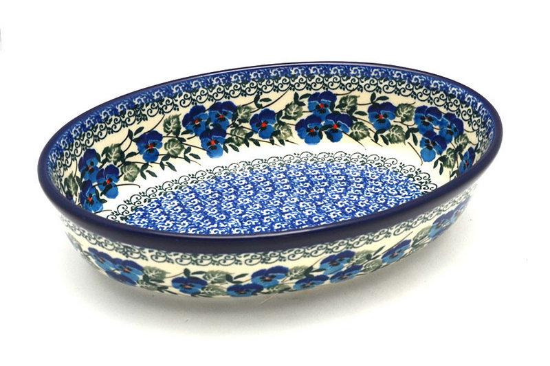 Ceramika Artystyczna Polish Pottery Baker - Oval - Small - Winter Viola 299-2273a (Ceramika Artystyczna)