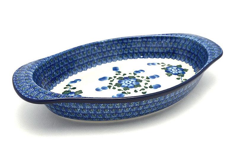 Ceramika Artystyczna Polish Pottery Baker - Oval with Handles - Blue Poppy 719-163a (Ceramika Artystyczna)