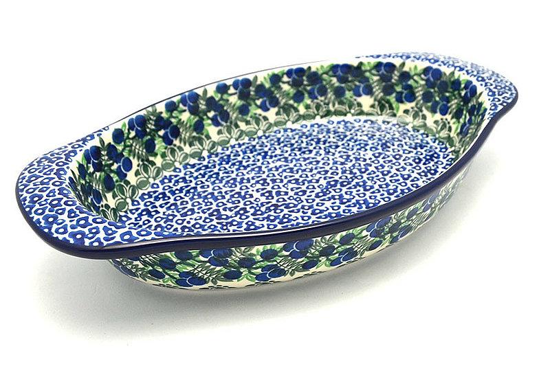 Ceramika Artystyczna Polish Pottery Baker - Oval with Handles - Huckleberry 719-1413a (Ceramika Artystyczna)