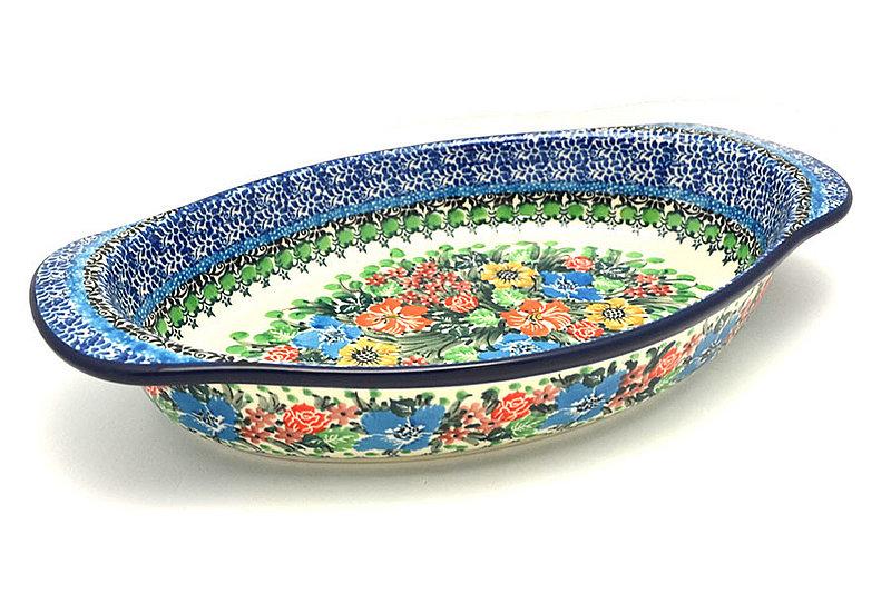 Ceramika Artystyczna Polish Pottery Baker - Oval with Handles - Unikat Signature - U3347 719-U3347 (Ceramika Artystyczna)