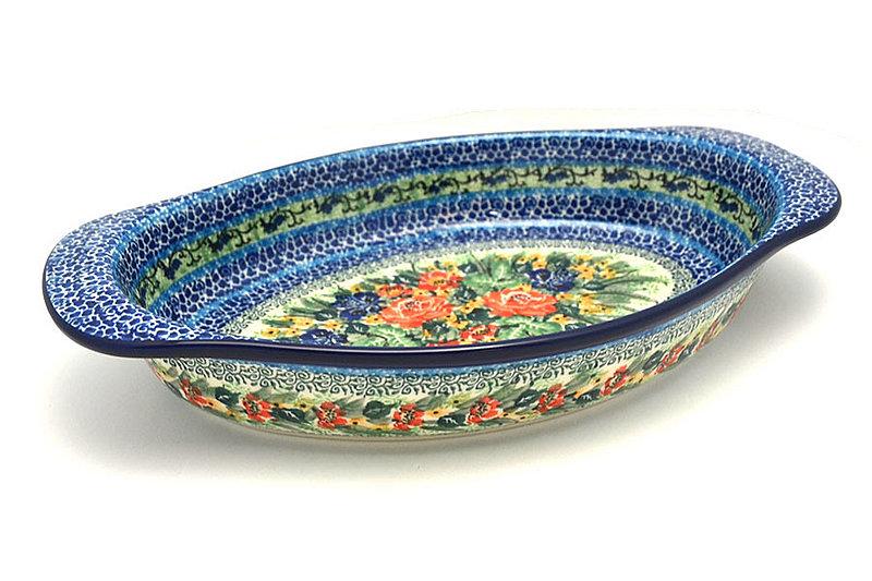 Ceramika Artystyczna Polish Pottery Baker - Oval with Handles - Unikat Signature - U4400 719-U4400 (Ceramika Artystyczna)