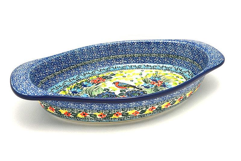 Ceramika Artystyczna Polish Pottery Baker - Oval with Handles - Unikat Signature - U4512 719-U4512 (Ceramika Artystyczna)