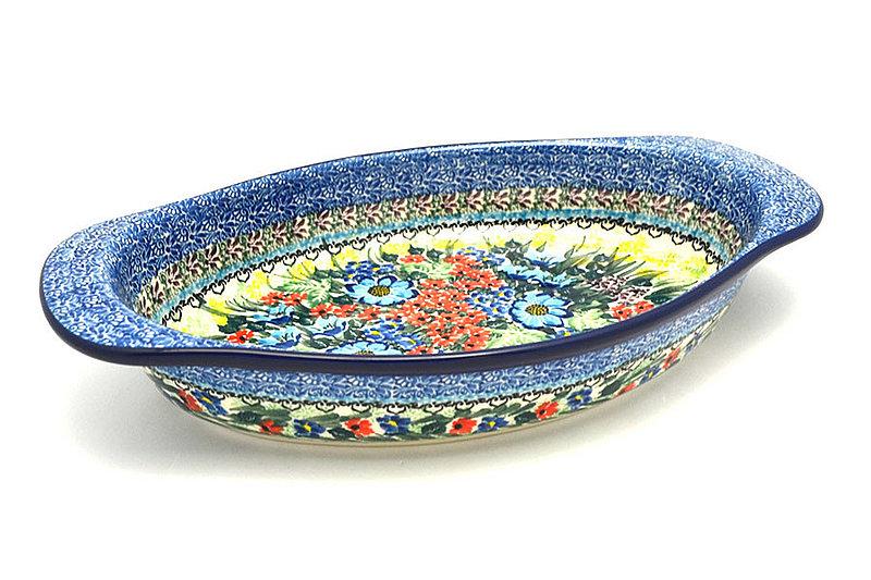 Ceramika Artystyczna Polish Pottery Baker - Oval with Handles - Unikat Signature - U4558 719-U4558 (Ceramika Artystyczna)