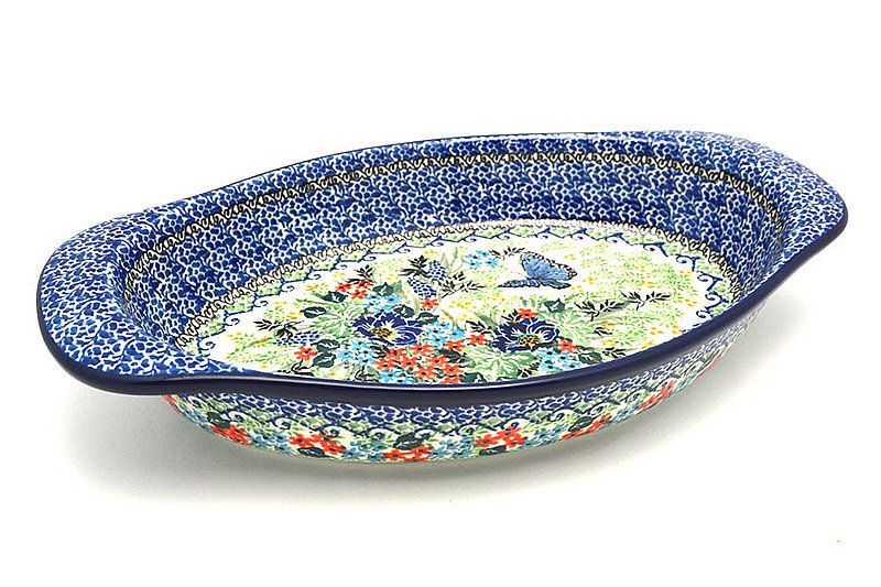 Ceramika Artystyczna Polish Pottery Baker - Oval with Handles - Unikat Signature - U4600 719-U4600 (Ceramika Artystyczna)