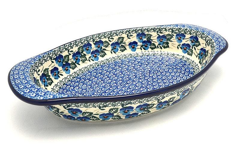 Ceramika Artystyczna Polish Pottery Baker - Oval with Handles - Winter Viola 719-2273a (Ceramika Artystyczna)
