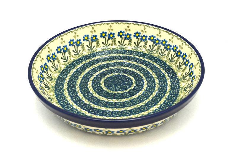 Ceramika Artystyczna Polish Pottery Baker - Pie Dish - Blue Spring Daisy 230-614a (Ceramika Artystyczna)