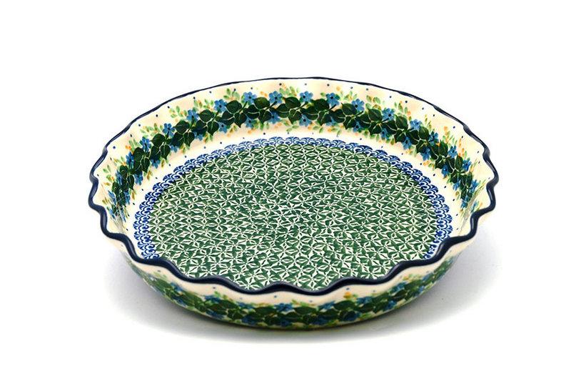 Ceramika Artystyczna Polish Pottery Baker - Pie Dish - Fluted - Ivy Trail 636-1898a (Ceramika Artystyczna)