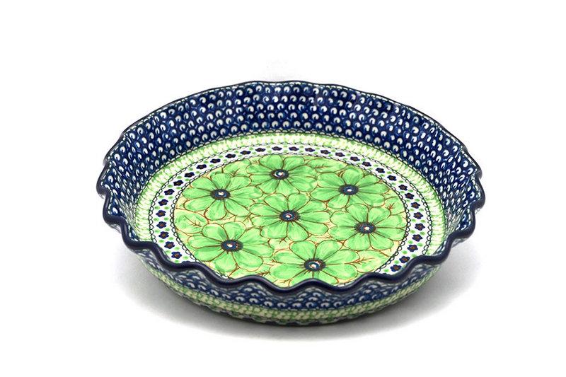 Ceramika Artystyczna Polish Pottery Baker - Pie Dish - Fluted - Unikat Signature U408A 636-U408A (Ceramika Artystyczna)