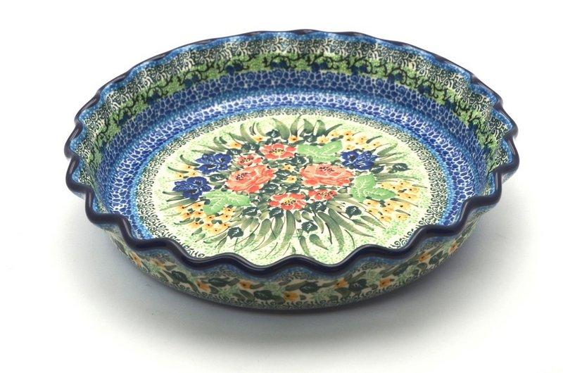 Ceramika Artystyczna Polish Pottery Baker - Pie Dish - Fluted - Unikat Signature U4400 636-U4400 (Ceramika Artystyczna)