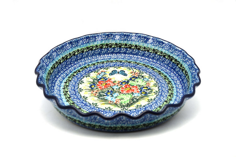 Ceramika Artystyczna Polish Pottery Baker - Pie Dish - Fluted - Unikat Signature U4553 636-U4553 (Ceramika Artystyczna)