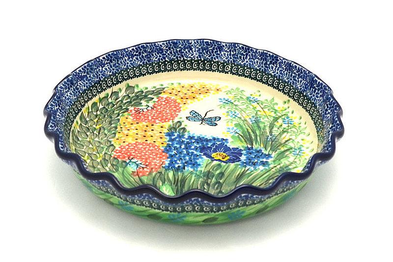 Ceramika Artystyczna Polish Pottery Baker - Pie Dish - Fluted - Unikat Signature U4612 636-U4612 (Ceramika Artystyczna)