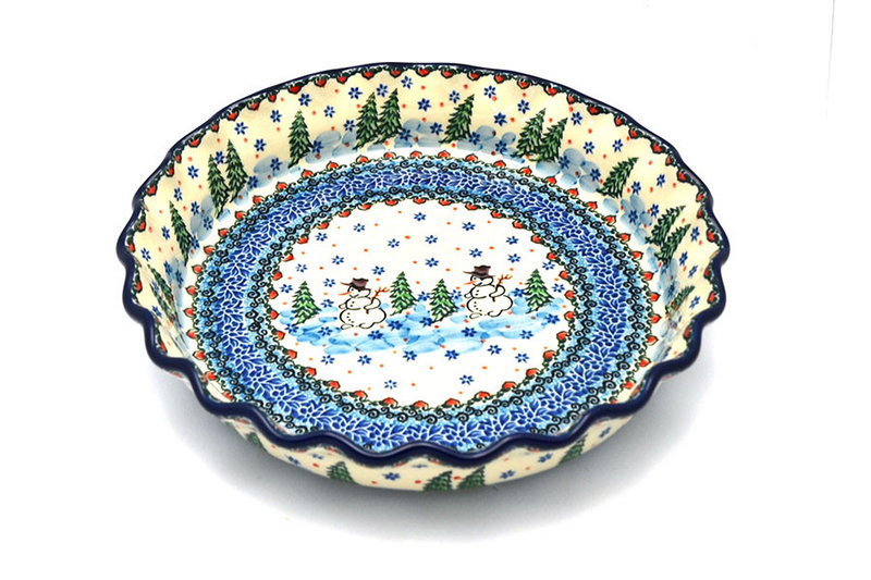 Ceramika Artystyczna Polish Pottery Baker - Pie Dish - Fluted - Unikat Signature U4661 636-U4661 (Ceramika Artystyczna)
