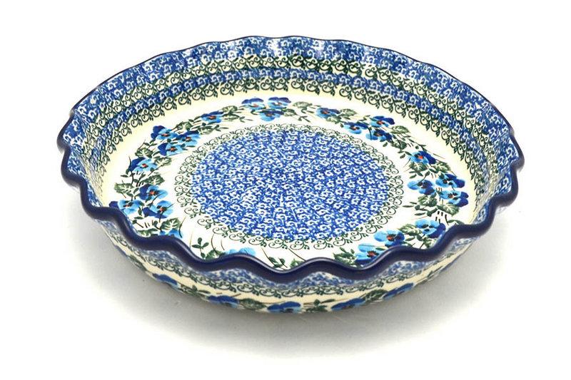 Polish Pottery Baker - Pie Dish - Fluted - Winter Viola