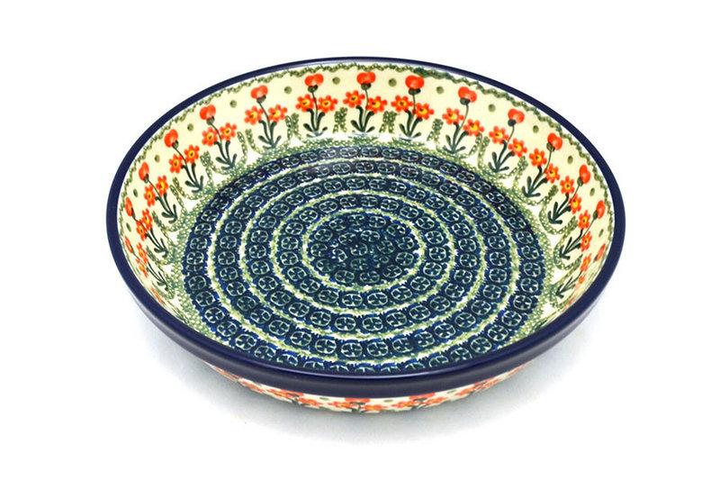Ceramika Artystyczna Polish Pottery Baker - Pie Dish - Peach Spring Daisy 230-560a (Ceramika Artystyczna)