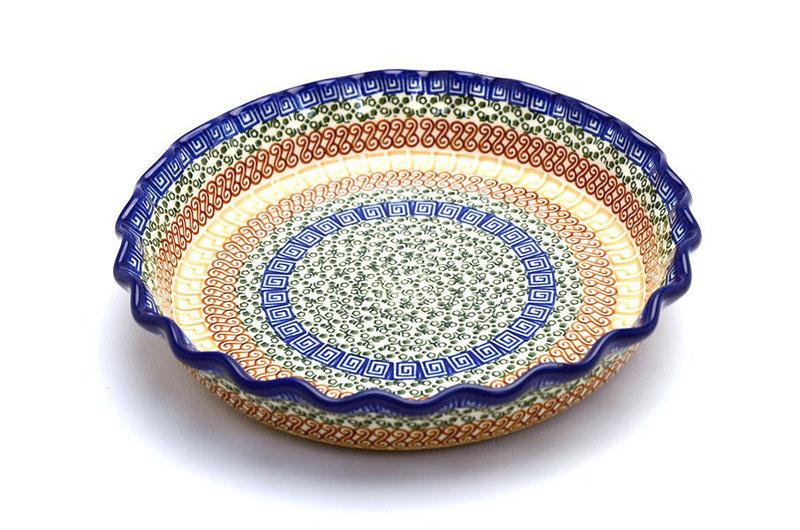 Ceramika Artystyczna Polish Pottery Baker - Pie/Quiche - Fluted - Autumn 636-050a (Ceramika Artystyczna)