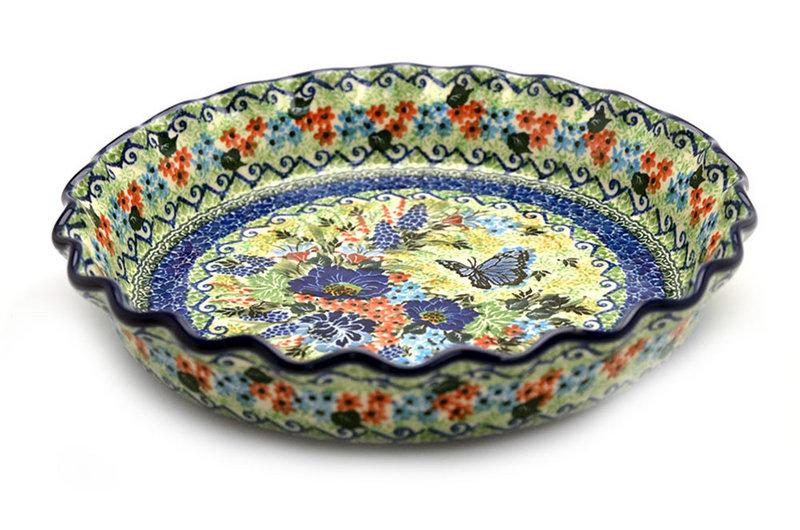 Ceramika Artystyczna Polish Pottery Baker - Pie/Quiche - Fluted - Unikat Signature U4600 636-U4600 (Ceramika Artystyczna)