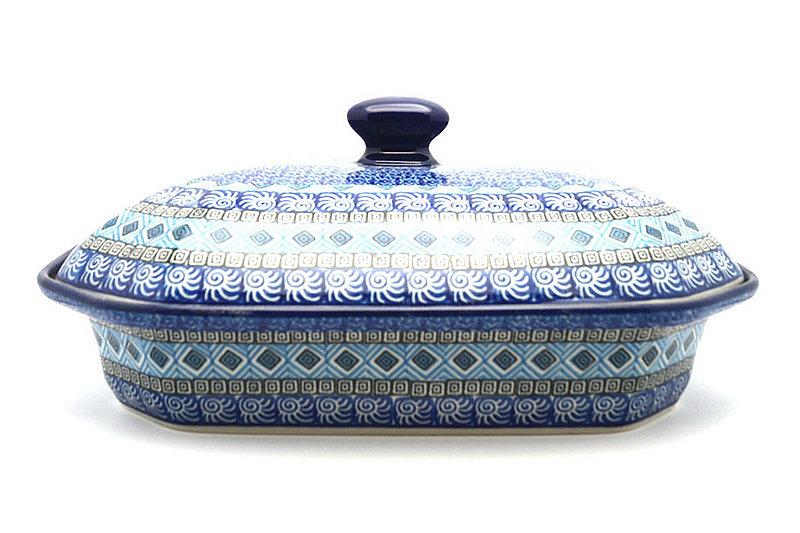 Ceramika Artystyczna Polish Pottery Baker - Rectangular Covered - Large - Aztec Sky 665-1917a (Ceramika Artystyczna)