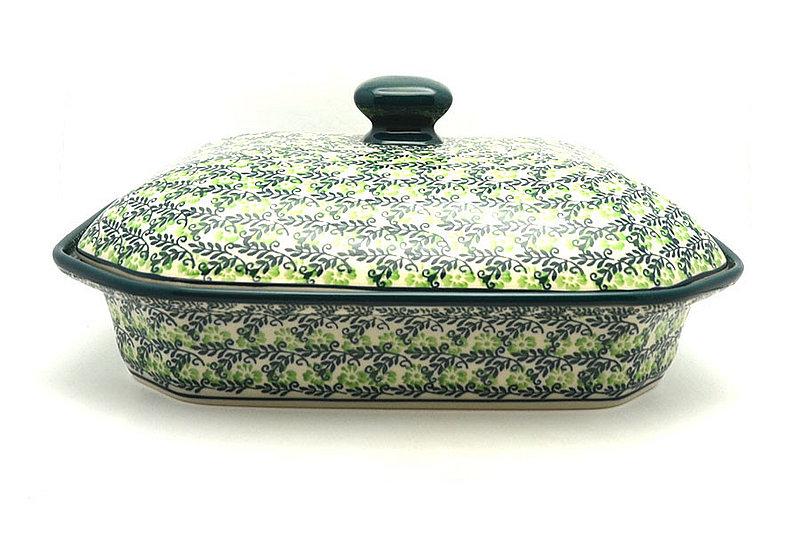 Ceramika Artystyczna Polish Pottery Baker - Rectangular Covered - Large - Irish Meadow 665-1888q (Ceramika Artystyczna)